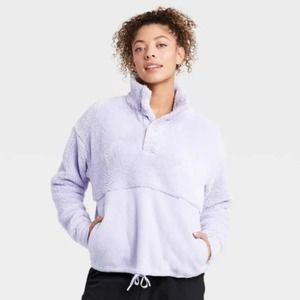 All In Motion Snap Front Cozy Sherpa Pullover